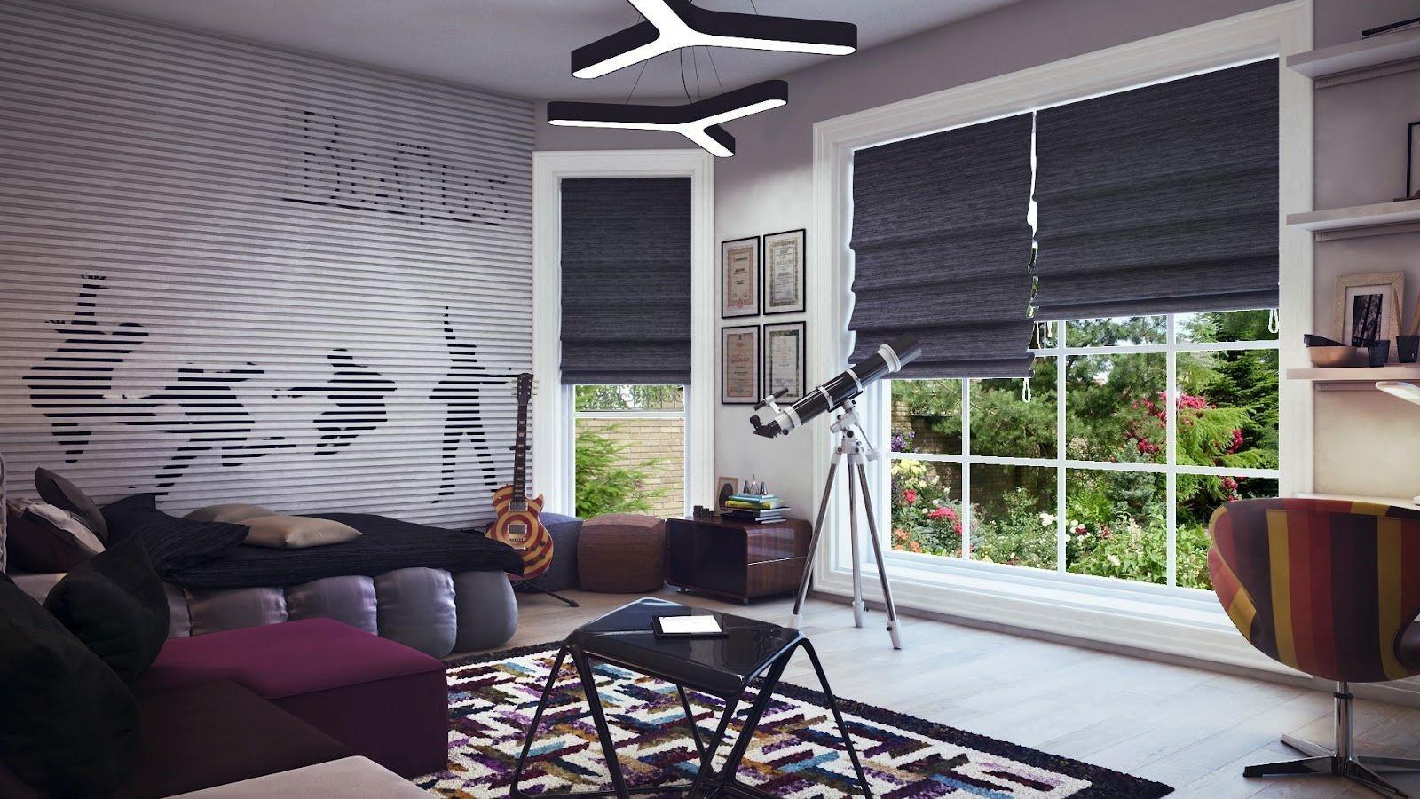 Шторы для комнаты подростка: какой тип занавесок выбрать, дизайн, рисунок, модные решения