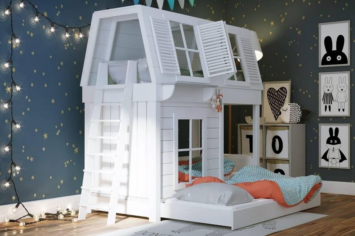 Виды и особенности кроватей-домиков: сложный выбор для интерьера