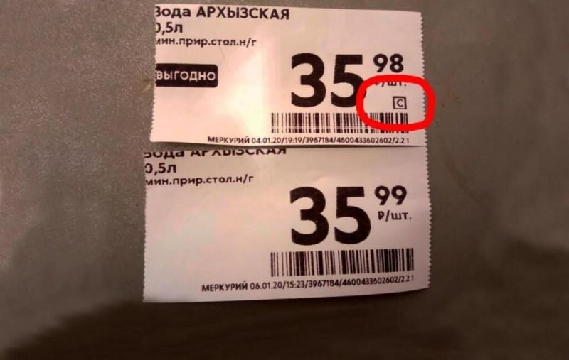 Ценники в «Пятерочке» со специальными символами: что это значить и где искать
