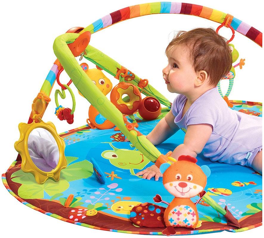 Коврик развивающий для новорожденных: выбор, особенности, виды