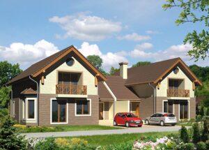 Готовые проекты домов для двух семей