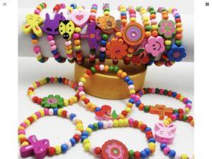 Яркие детские браслеты оптом